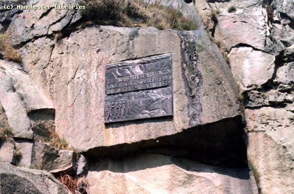 Kinder Scout Mass Trespass Sign, 1988